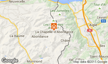 Map La Chapelle d'Abondance Apartment 91419