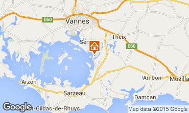 Map Vannes Vacation rental 84535