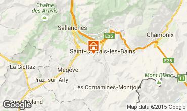 Map Saint Gervais Mont-Blanc Chalet 68082