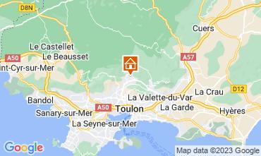 Map Toulon Apartment 25566