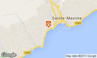 Map Sainte Maxime One-room apartment 95787