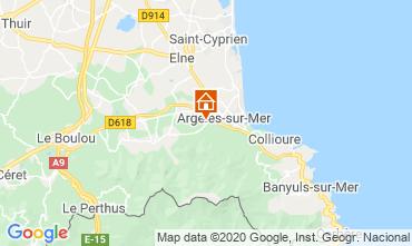 Map Argeles sur Mer Apartment 24650