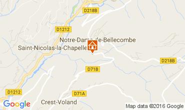 Map Notre Dame de Bellecombe Apartment 2023