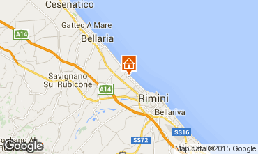 Map Rimini One-room apartment 92967