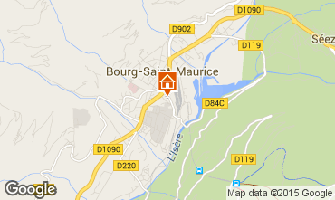 Map Bourg saint Maurice One-room apartment 239