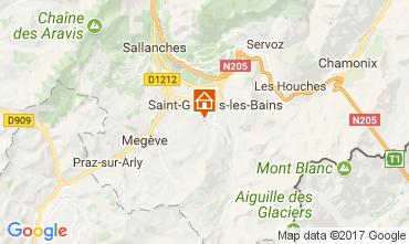 Map Saint Gervais Mont-Blanc One-room apartment 69949