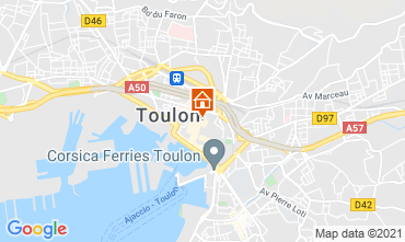 Map Toulon One-room apartment 92574