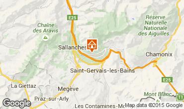 Map Chamonix Mont-Blanc Chalet 651