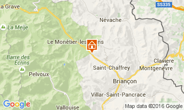 Map Serre Chevalier Apartment 103769