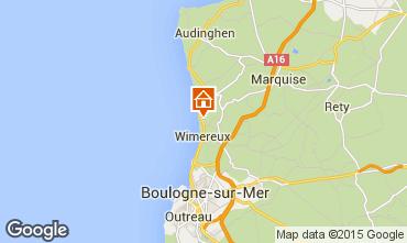 Map Wimereux Apartment 52935