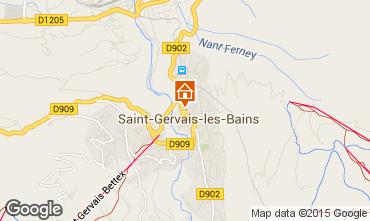 Map Saint Gervais Mont-Blanc Chalet 36087