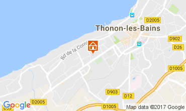 Map Thonon Les Bains One-room apartment 108306