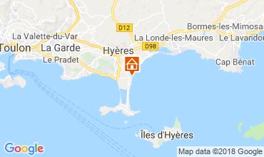 Map Hyères Apartment 116544