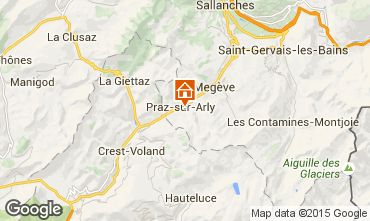 Map Megève Chalet 99490