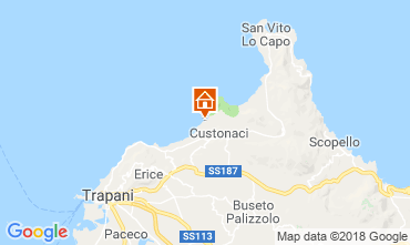 Map Trapani Apartment 109292
