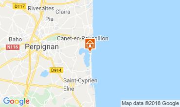 Map Canet-en-Roussillon Mobile home 117370