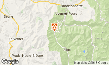 Map Val d'Allos One-room apartment 3194