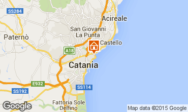 Map Catania Apartment 31264