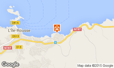 Map Location Ile Rousse Apartment 64700