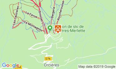 Map Orcières Merlette Apartment 118170