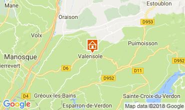 Map Valensole Villa 65599