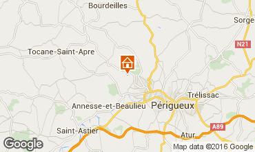 Map Périgueux Vacation rental 54756