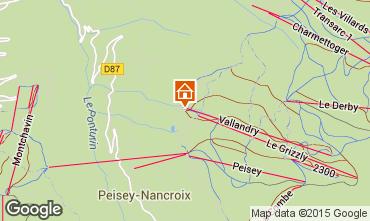 Map Peisey-Vallandry Apartment 90871