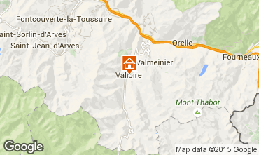 Map Valloire Chalet 100651
