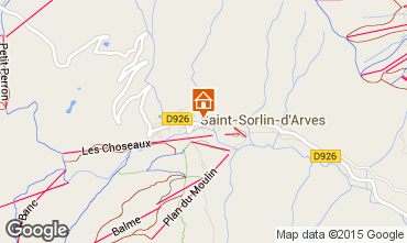 Map Saint Sorlin d'Arves One-room apartment 2689