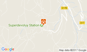 Map Superdévoluy- La Joue du Loup Apartment 112256