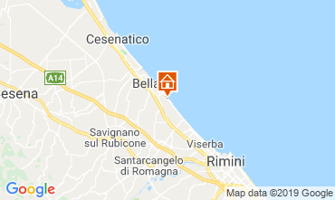 Map Bellaria Igea Marina Apartment 84906