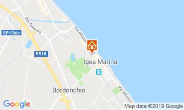 Map Bellaria Igea Marina Apartment 84906