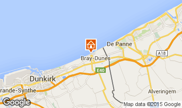 Map Bray-Dunes One-room apartment 88543