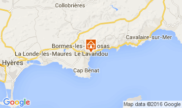 Map Le Lavandou One-room apartment 8589