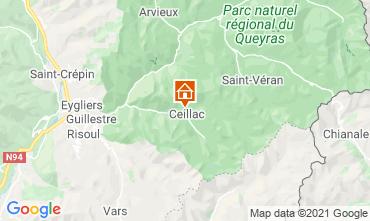 Map Ceillac en Queyras One-room apartment 561