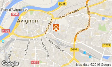 Map Avignon One-room apartment 59338