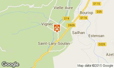 Map Saint Lary Soulan One-room apartment 80914