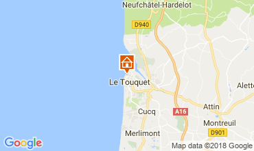Map Le Touquet One-room apartment 104169