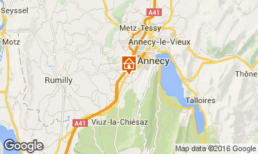Map Annecy Apartment 103303