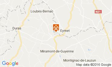 Map Bergerac Vacation rental 36896