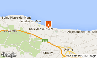 Map Arromanches Vacation rental 36408