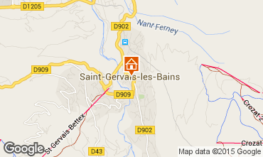 Map Saint Gervais Mont-Blanc Apartment 2561