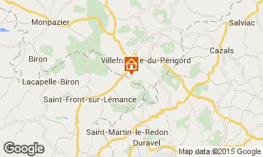 Map Villefranche du Périgord Vacation rental 51192