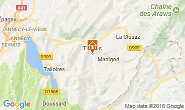 Map La Clusaz Vacation rental 112920