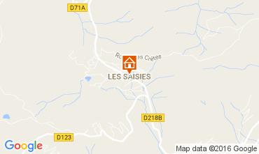 Map Les Saisies Apartment 2709