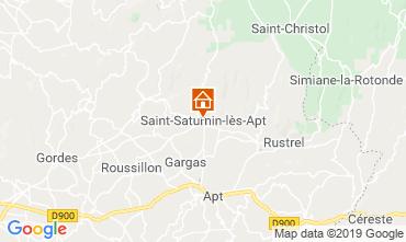 Map Saint Saturnin les Apt Vacation rental 118958