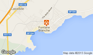 Map Fontane Bianche Villa 77117