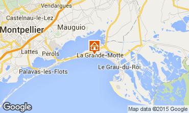 Map La Grande Motte Apartment 95322