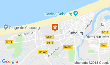 Map Cabourg Apartment 117330