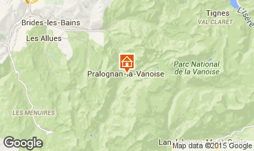 Map Pralognan la Vanoise Apartment 2287